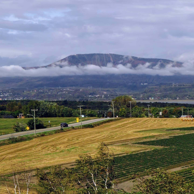 Vue sur le Mont-Sainte-Anne