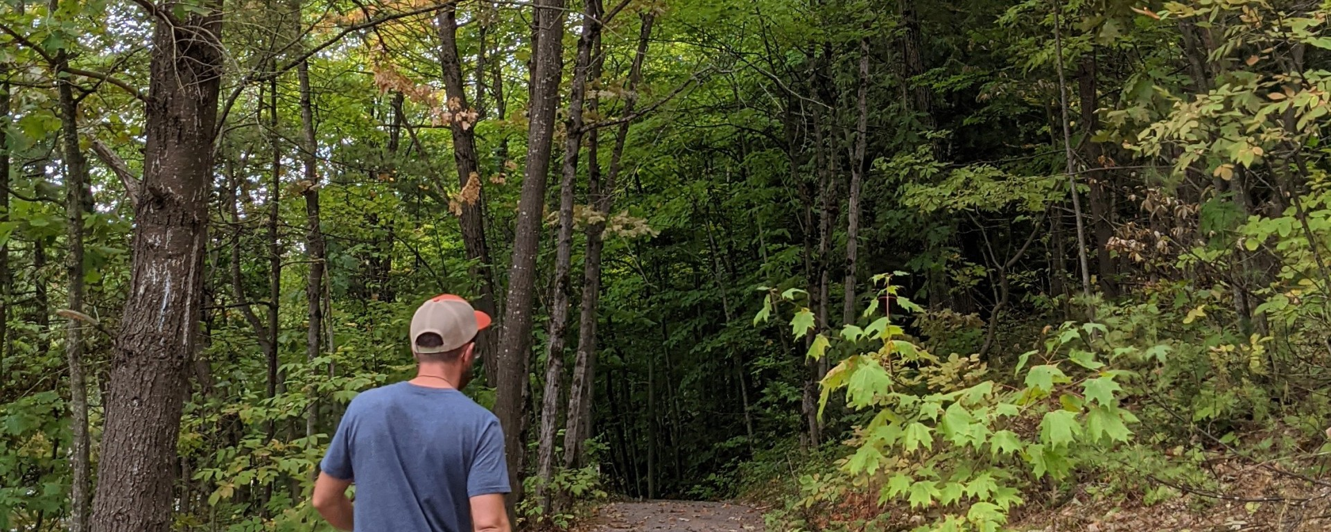 Sentier fin août, parc de la rivière Batiscan