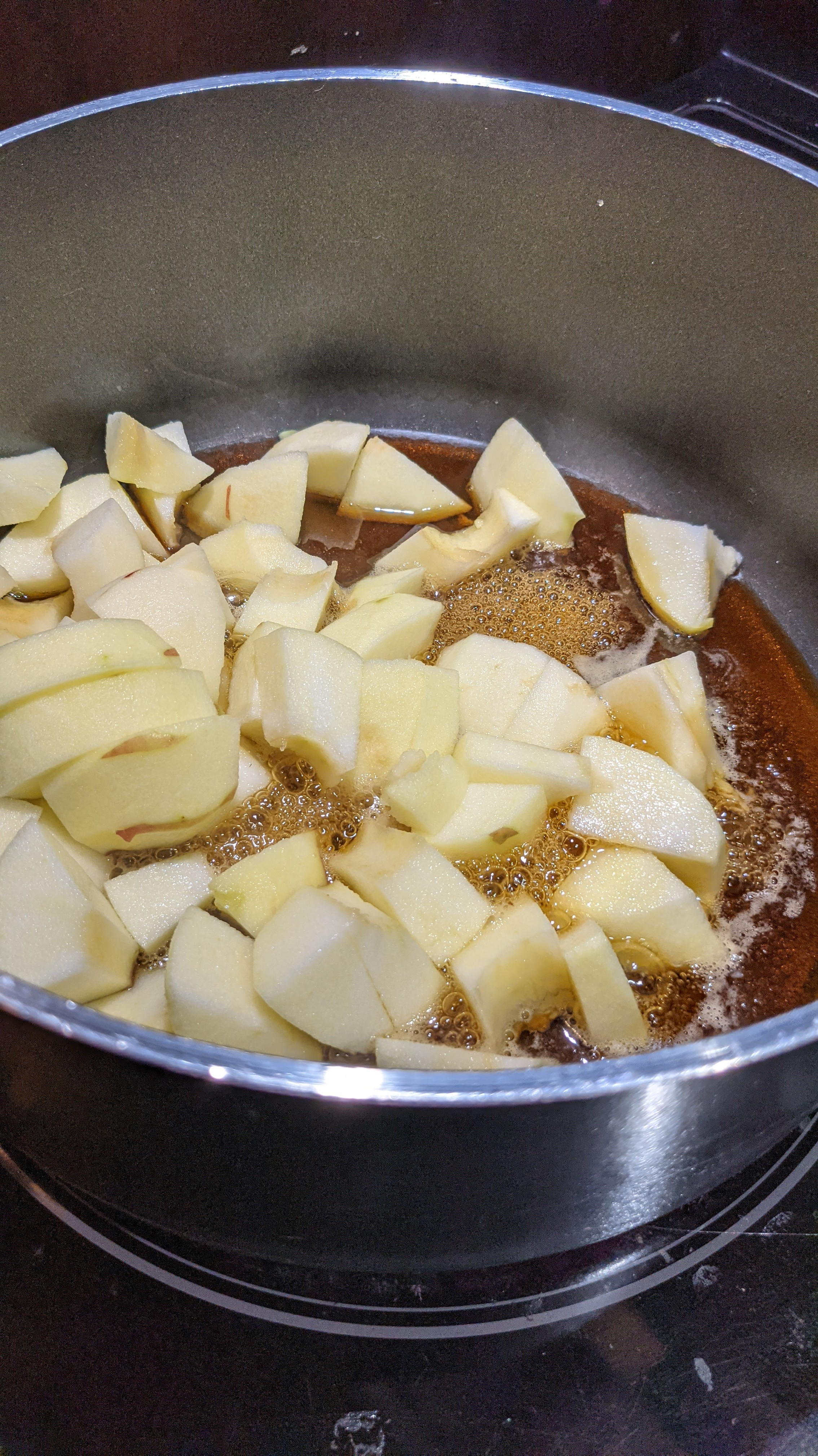 Pommes et sirop d'érable