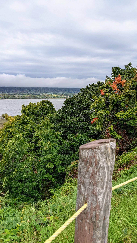 Vue du parc des Ancêtres sur la Côte de Beaupré